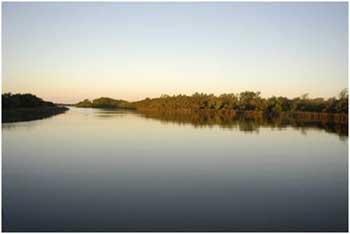 <EM>Imagen del río Sauce al atardecer</EM>
