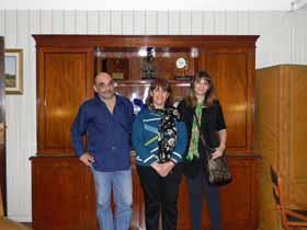 <em>De izquierda a derecha Lic. Jorge Paolucci, Lic. Ana María Mendoza,  Coordinadora de Capacitación del SHN y Lic. Verónica Bellitti.</em>