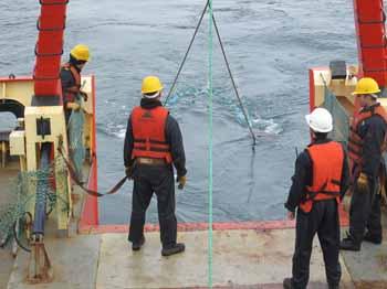 <em>Personal del Buque Oceanográfico