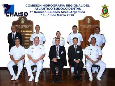 <em>Integrantes de la Comisión Hidrográfica Regional del Atlántico Sudoccidental. (18-19 marzo, Buenos Aires, Argentina)</em>