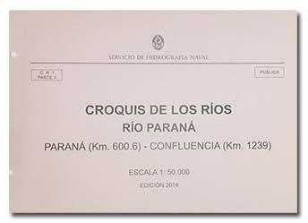 Tapa del Croquis de los Ríos. Río Paraná.