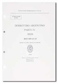 Tapa de la Publicación H-204 C <q>Derrotero Argentino Parte IV. Río Uruguay</q>.