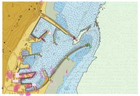 <em>Imagen de una carta de navegación electrónica.</em>