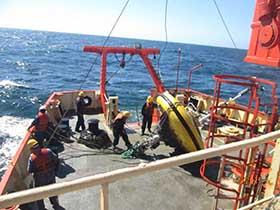 Boya oceanográfica a bordo del ARA <q>Puerto Deseado</q>