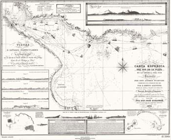 Carta Esférica del Río de la Plata