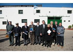 Autoridades, invitados e integrantes del SHN en el 136° Aniversario de la Institución.