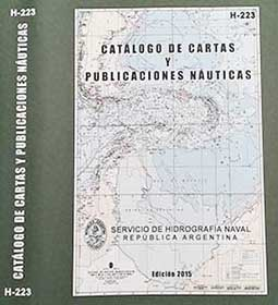 Publicación H-223 - Catálogo de Cartas y Publicaciones Náuticas.