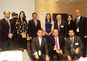 Delegados de Argentina, México, Panamá, Colombia, Cuba, Venezuela, España y Uruguay.