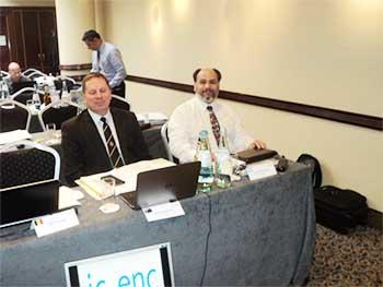 Delegados de Australia y Argentina.
