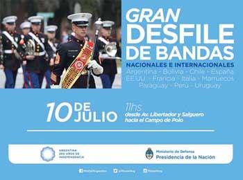 Afiche por los festejos del Bicentenario de la Independencia.