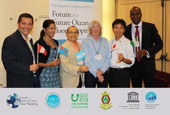 Primera Promoción Egresados del NF-GEBCO Training Programde Nippon Foundation con el Dr. Dave Monohan.