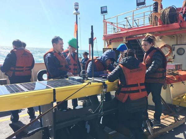 Preparación para la acción: carga de datos en WAVE GLIDER